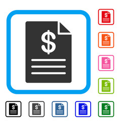 Price list framed icon vector