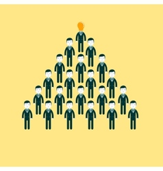 Pyramid of people working in the commando vector