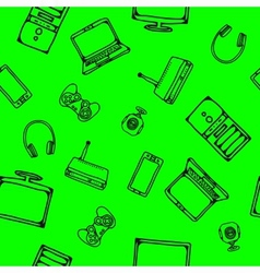 seamless computer icons vector image vector image