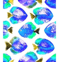Seamless pattern with watercolor discus vector