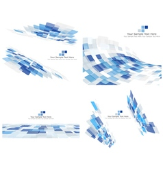 Set of 4 checkered background vector