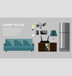 smart house infographic concept vector image