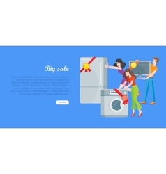 Supermarket Sale Banner Household Appliances vector image
