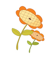 The two of sunflowers vector image vector image