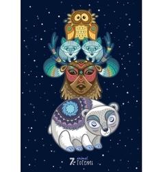 wild totem animal Polar vector image