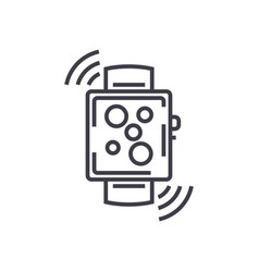 wireless smart watch line icon sign vector image