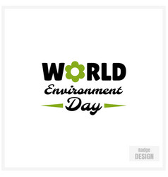 World environment day badge vector