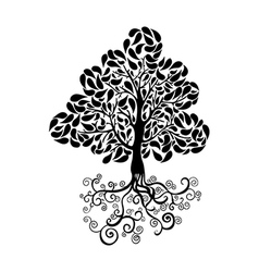 Black tree symbol vector