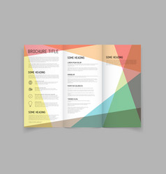 Modern three fold brochure design template vector