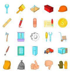 Home renovation icons set cartoon style vector