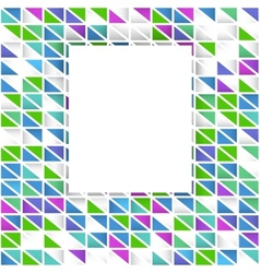 Abstract colorful triangular background vector
