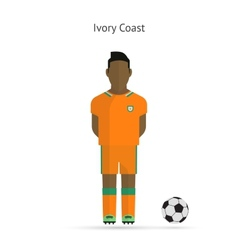 National football player ivory coast soccer team vector