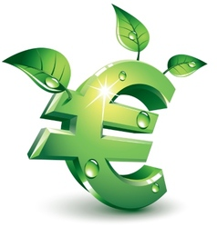 Flourishing euro vector