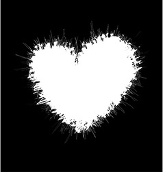 Heart shaped scribble frame vector