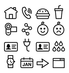 Website application line icons set vector