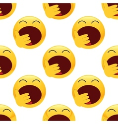 Yawning emoticon pattern vector image