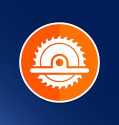 Circular saw icon button logo symbol concept vector