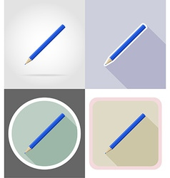 stationery flat icons 03 vector image