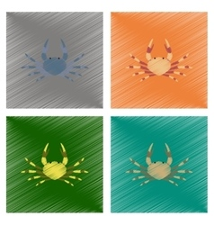 assembly flat shading style animal vector image vector image