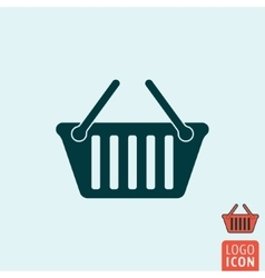 Basket icon isolated vector image vector image