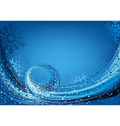 Blue Abstract Christmas vector image vector image
