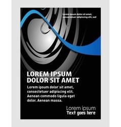 Business marketing brochure poster templat vector
