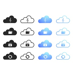 Cloud computing icons - set 3 vector image vector image