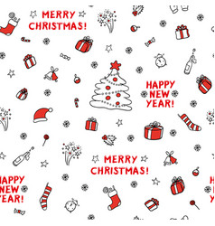 cute set sketch seamless pattern of vector image vector image