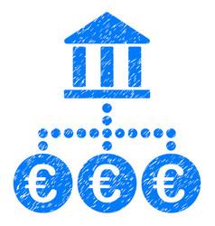 Euro bank transactions grunge icon vector