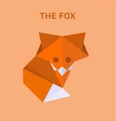 Fox origami of flat polygons vector