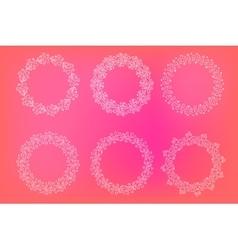 Fram heart valentine round leaves vector