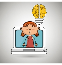 Girl infant pc idea vector