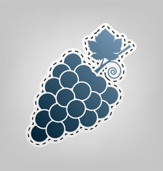 Grapes sign blue icon with vector