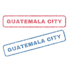 Guatemala city textile stamps vector