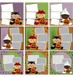 halloween photo frames vector image