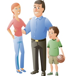 husband wife and their son vector image vector image