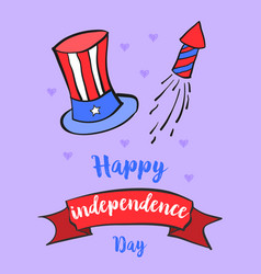 Independence day celebration greeting card vector