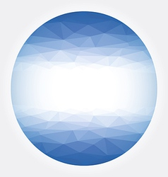 Low poly circle blue abstract vector image