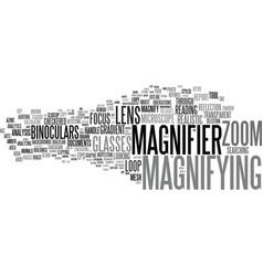 Magnifying word cloud concept vector