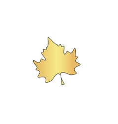 Maple leaf computer symbol vector