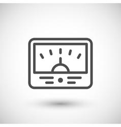 Meter line icon vector