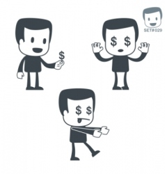 money icon man set vector image