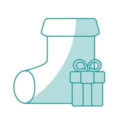 Monocromatic sock design vector