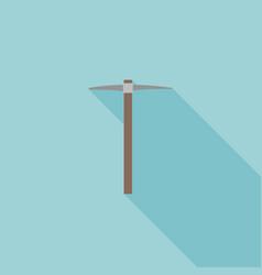 Pick axe icon flat design vector