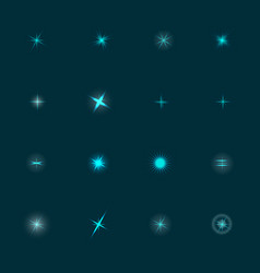 set of stars vector image vector image