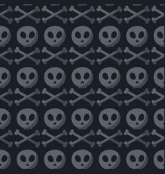 skull and crossbones seamless pattern vector image vector image
