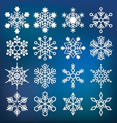 snowflake collection vector image vector image