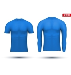 Thermal underwear layer compression shirt vector