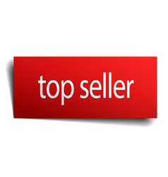 Top seller red paper sign on white background vector