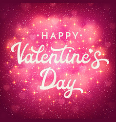 valentines day greeting card with blurred hearts vector image vector image